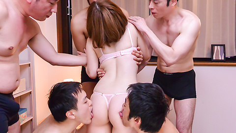 Doremi Miyamoto - Group Japan blow job by busty Doremi Miyamoto - Picture 11