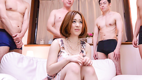 Doremi Miyamoto - Group Japan blow job by busty Doremi Miyamoto - Picture 1
