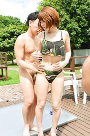 Risa Mizuki - Sweet Risa Mizuki takes good care of cock  - Picture 5