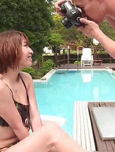 Risa Mizuki - Sweet Risa Mizuki takes good care of cock  - Screenshot 3