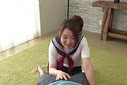 Asian schoolgirl sucks cock in perfect POV scenes  Photo 2