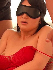 Chie Aoi - Big Asian dildo hard porn for brunette Asian  - Screenshot 1