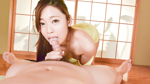 Sexy Japanese blow job in POV with Kuru Shichisei
