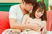Young Japanese av beauty delights with cock the hard way Photo 4