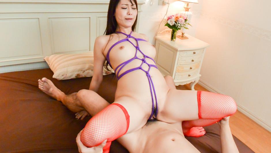 Japanese av beauty fucked in raw bondage porn session