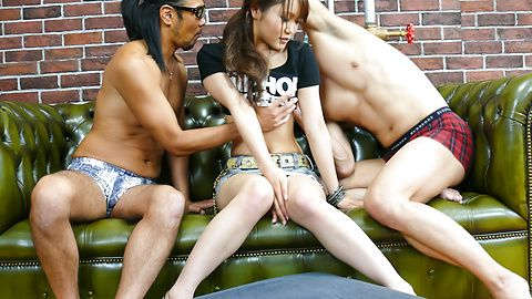 Miyu - Asian blowjob during complete threesome with Miyu - Picture 4