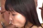 Japanese amateur gangbang withSatomi Miyazaki Photo 10