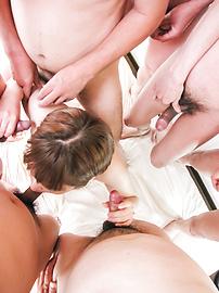 Kaho Kitayama - Kaho Kitayama gets nasty in asian blowjob group scene - Picture 5