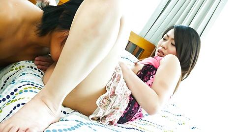 Hina Aizawa - Hina Aisawa with big eyes sucks shlong - Picture 4