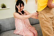 Nice oral by Japanese gal with big tits Jun Mamiya  Photo 1