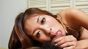 Top Asian blowjob scenes with hotRisa Misaki