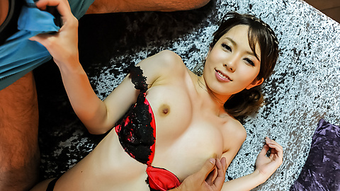 Yui Hatano - Yui Hatano gives Asian blow job before hardcore sex  - Picture 4