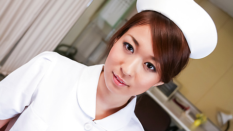 Risa Misaki - Hot Asian nurse provides sloppy Asian blowjob  - Picture 1