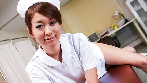 Risa Misaki - Hot Asian nurse provides sloppy Asian blowjob  - Picture 2