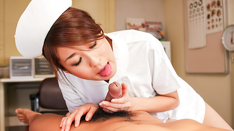 Risa Misaki - Hot Asian nurse provides sloppy Asian blowjob  - Picture 7