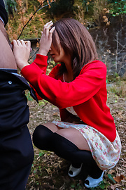 Kuraki Mio - Kuraki Mio enjoys Japan cum in outdoor oral  - Picture 9