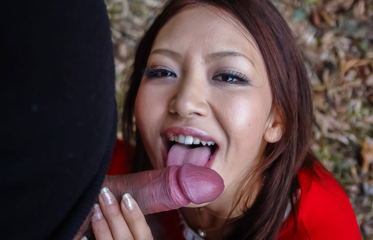 Smooth POV blowjob by insolent Kuraki Mio japanese porn, hot asian