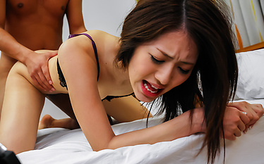 Girl in sexy lingerie pumped by a massive dick