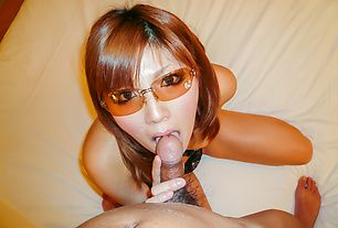 Asian milf devours cock after harsh oral play
