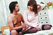 Busty Teen Aoi Mizumori Gets A Creamed Pussy Photo 1
