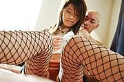 Wearing Fishnets To Bed Gets Arisa Aoyama Creampied Photo 11
