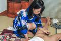 Kinky Yui Kyouno enjoying full asian blowjob