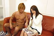 Satomi Kirihara amazes with a Japanese POV blowjob  Photo 1