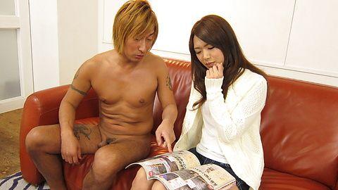 Kinky Satomi Kirihara goes naughty in pure blowjob