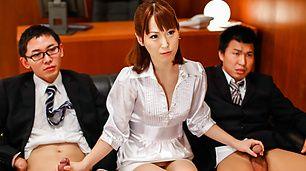 Asian milf,Nonoka Kaede, cock sucking at work