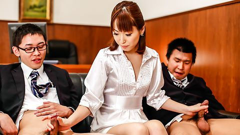 Japan blowjob at the office along Nonoka Kaede