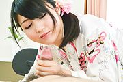 Japanese POV blowjob by nasty Reo Saionji Photo 10