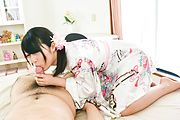 Superb Asian blowjob in close details with Reo Saionji Photo 12