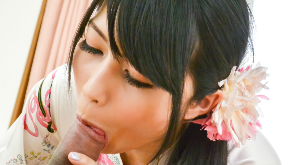 Superb Asian blowjob in close details with Reo Saionji