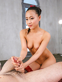 Ren Azumi - Horny  Ren Azumi giving warm Japanese blowjobs on cam - Picture 11