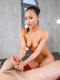 Ren Azumi - HornyRen Azumi giving warm Japanese blowjobs on cam - Picture 11