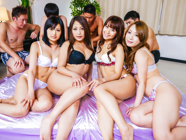 Asian milf group sex