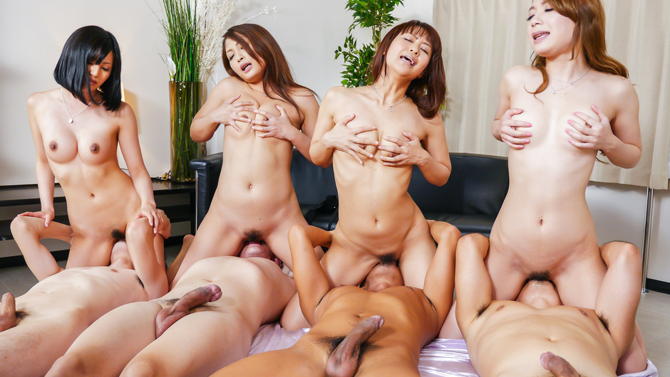 Asian milf group fuck porn caught on cam