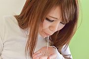 Japanese milf, Maki Koizumi, enjoys two tasty pricks Photo 12