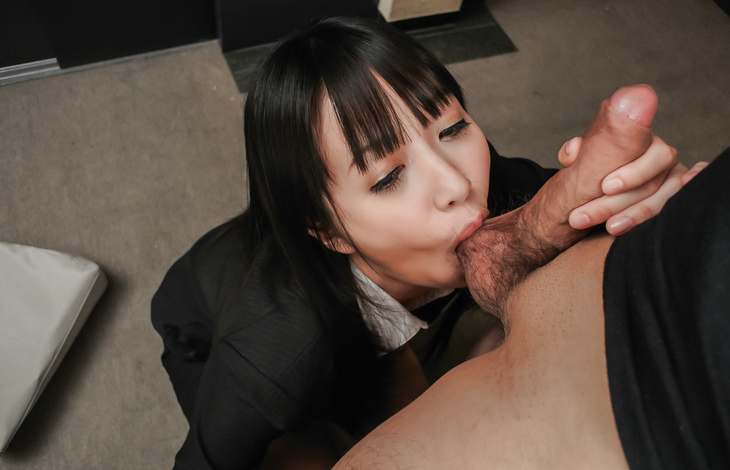 Asian milf blows cock in serious ways until cum on face  nude asian girls, nude japanese girls