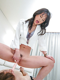 Ayumi Iwasa - Ayumi Iwasa gives an asian foot job and sits on his face - Picture 12