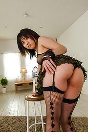 Kyoka Mizusawa - ชุดชั้นในสีดำเซ็กซี่ เคียวกะมิให้ญี่ปุ่น blowjob -  6 รูปภาพ