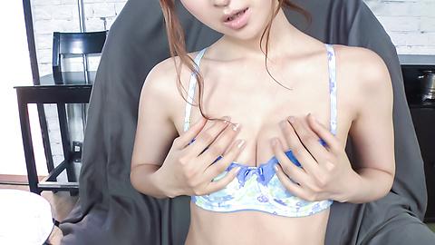 Reira Aisaki - Reira Aisaki provides blowjob after great nude solo - Picture 1