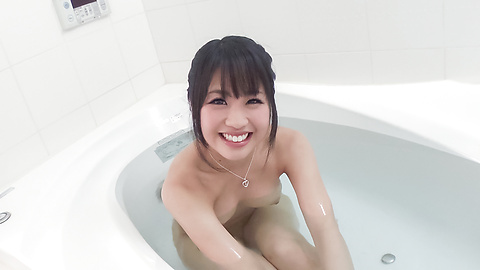 Kana Matsu - Asian amateur solo in the bath with Kana Matsu - Picture 1