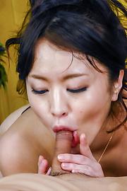 Kaede Niiyama - Kaede Niiyamablows cock in POV and enjoys Asian cum - Picture 7