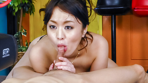 Kaede Niiyama - Kaede Niiyama blows cock in POV and enjoys Asian cum  - Picture 8