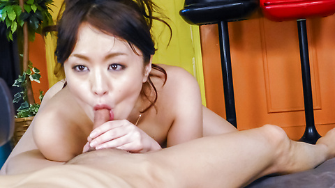 Kaede Niiyama - Kaede Niiyama blows cock in POV and enjoys Asian cum  - Picture 9