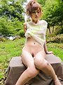 Japanese outdoor porn show with busty Mikuru Shiina  Photo 10