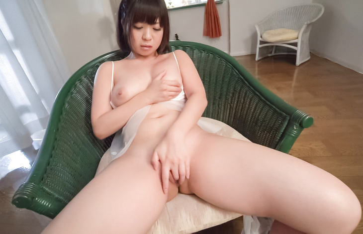 Wakaba Onoue finger fucks pussy and shakes the big tits  asian female, japanese women, japanese pussy