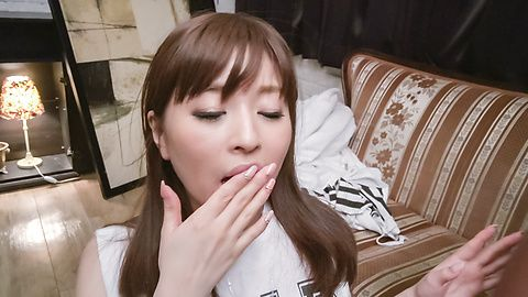 Japanese blowjob on two heads with Saya Niiyama