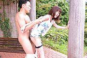 Superb Asian outdoor sex with sexy Yua Ariga Photo 10